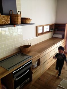 Inspiring Japanese Kitchen Style every home needs that feeling. similar to the kitchen is one of the highest traffic areas in the home, it should be the area where good relations and concurrence. Farmhouse Style Kitchen, Modern Farmhouse Kitchens, Home Kitchens, Wooden Kitchens, Dream Kitchens, Rustic Kitchen, Country Kitchen, Interior Design Kitchen, Kitchen Decor