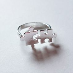 Puzzle Piece Ring by UnicornBorn on Etsy https://www.etsy.com/listing/257837141/puzzle-piece-ring