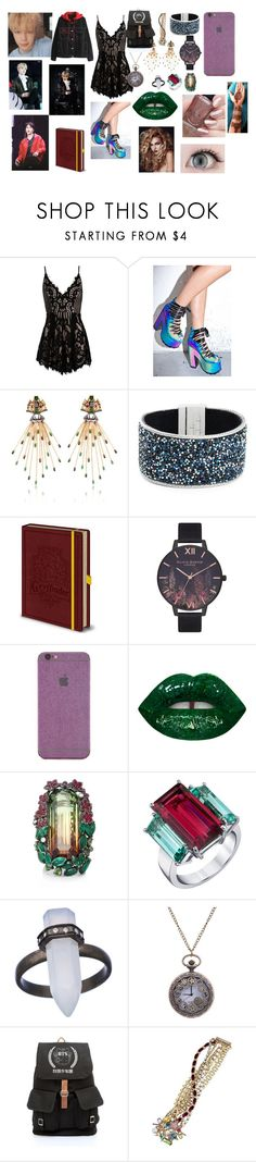 """""""BTS Jimin"""" by btsloveforlife ❤ liked on Polyvore featuring Sans Souci, Y.R.U., Kenneth Cole, Olivia Burton, Forever 21, Lydia Courteille, Sarosi by Timeless Gems, Didi Jewellery and Betsey Johnson"""