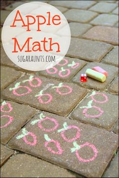 Apple themed math activity for Preschoolers and Kindergarteners