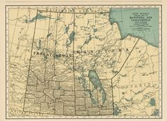 Map of Manitoba and Saskatchewan - 1930