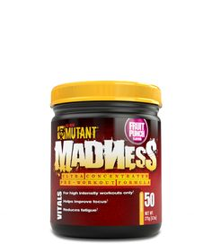 Mutant MADNESS Pre Workout, Engineered for High Intensity Workouts with Source Blend, Blue Raspberry, 50 Servings >>> You can find more details by visiting the image link. Pre Workout Nutrition, Pre Workout Supplement, Sports Nutrition, Health And Nutrition, Bodybuilding Supplements, Diet Supplements, Beta Alanine, All Fruits, High Intensity Workout