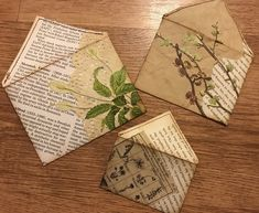 Pretty envelopes made from magazine pages. Altered Books, Altered Art, Tarjetas Diy, Paper Art, Paper Crafts, Book Page Crafts, Envelope Art, Book Journal, Art Journals
