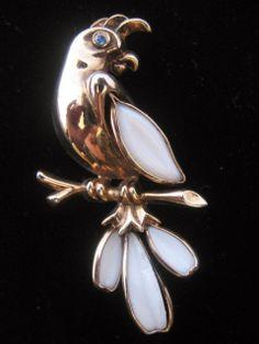 Trifari Petalettes  Alfred Philippe Designed- Parrot Pin- Brooch