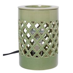 Green Ceramic Electric Fragrance Tart/ Cube Wax, Fragrance Oil Warmer