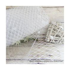 voilette blanche pour créations de bibis ou chapeaux de mariage