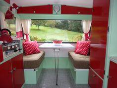 Interior Retro 10ft Caravan