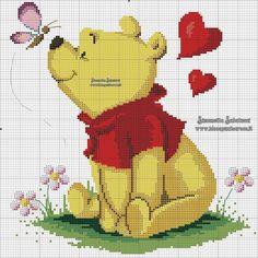 arts and crafts Cat Cross Stitches, Cross Stitch Baby, Cross Stitching, Cross Stitch Embroidery, Disney Babys, Baby Disney, Winnie The Pooh, Disney Stich, Disney Cross Stitch Patterns