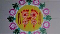 Super Easy and Quick Mahalaxmi Paul Rangoli Designs Using Bangles.