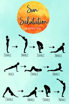 How to Do the 12 Poses of Sun Salutation for Beginners Sun Salutations has beginner yoga poses that are great for people starting their yoga journey. Related posts:YOGA FLOW & MEDITATION: The Secret To. Yoga Vinyasa, Ashtanga Yoga, Iyengar Yoga, Kundalini Yoga, Hatha Yoga Poses, Pilates Poses, Pranayama, Yoga Routine For Beginners, Meditation For Beginners