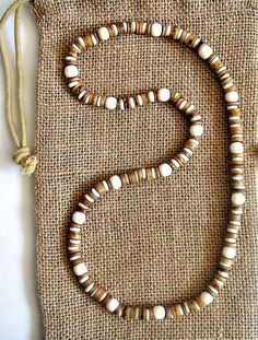 Men's Bone Beaded Stretch Necklace
