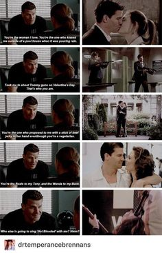 Booth & Brennan forever. This is sooo cute.