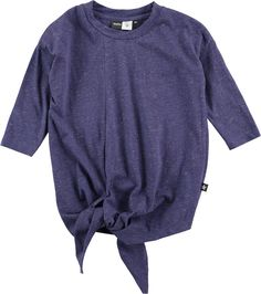 Raluca - Shimmer Shock Blue - oversized blue t-shirt with glitter and ties