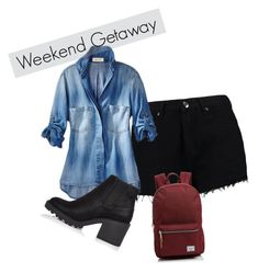 Weekend Getaway by bethm2109 on Polyvore featuring polyvore fashion style Boohoo River Island Herschel Supply Co. clothing