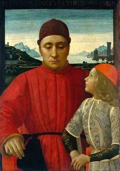 Francesco Sassetti and His Son Teodoro   Domenico Ghirlandaio   c. 1487   tempera on wood   33 x 25 in   Metropolitan Museum of Art. New York, NY, USA
