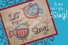 "Download ""Sing"" - Stitchery Pattern Sewing Pattern | Stitchery | YouCanMakeThis.com"