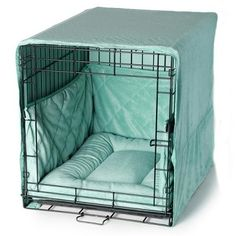 Plush Dog Crate Set w/ Cover Bed Bumper Pad - Tap the pin for the most adora. : Plush Dog Crate Set w/ Cover Bed Bumper Pad – Tap the pin for the most adorable pawtastic fur baby apparel! You'll love the dog clothes and cat clothes! Crate Bed, Diy Dog Crate, Puppy Crate, Diy Dog Kennel, Diy Dog Bed, Kennel Ideas, Wire Crate, Dog Crate Cover, Dog Rooms