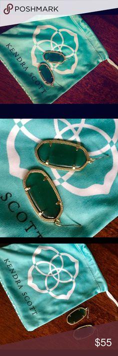 Kendra Scott jade green earrings New without tags jade green Kendra Scott earrings. Medium size. Kendra Scott Jewelry Earrings