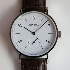 W-EUSG-Classic Sea-Gull automatic wrist watch Bauhaus e Mens Dress Watches, Watches For Men, Wrist Watches, Watch Companies, Watch Brands, Bauhaus Watch, I See Red, Affordable Watches, Gull