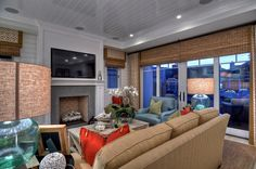 Beach house, coastal living, cottage style, eclectic, blue, red, tan, cozy, Details A Design Firm, Spinnaker Development
