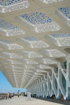 #Marrakech Ménara #airport , E2A Architecture, CR Architecture, nice trellis design for a home patio