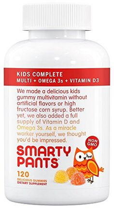 SmartyPants Kids Complete Gummy Vitamins Multivitamin  Omega 3 DHAEPA Fish Oil Methylfolate Methyl B12 Vitamin D3 120 count 30 Day Supply >>> Read more reviews of the product by visiting the link on the image.