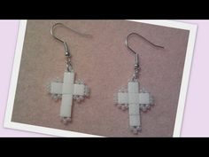 Love of religion beaded Earrings Beading Tutorial by HoneyBeads1 (Photo tutorial)