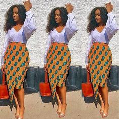 african fashion ankara Beautiful And Classy Ankara Skirt Styles - Latest African Fashion Dresses, African Inspired Fashion, African Dresses For Women, African Print Fashion, African Attire, Ankara Fashion, Africa Fashion, African Women, Modern African Dresses