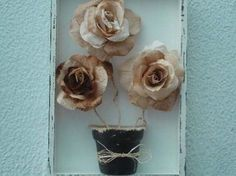 Como fazer flores com filtro de café 007