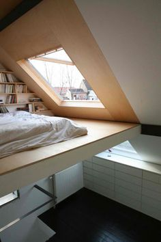 Do you want to extend the living capacity of your home, then why not convert your loft space into a bedroom? Bedroom loft conversions are becoming the most popular form of home improvements as householders seek to extend the living… Continue Reading → Mezzanine Bedroom, Bedroom Loft, Cozy Bedroom, Bedroom Ideas, Attic Bedrooms, Loft Beds, Skylight Bedroom, Bunk Bed, Bedroom Designs