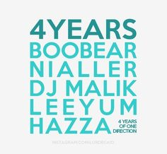 4 years  4años One direction