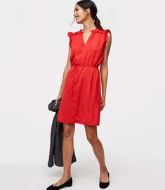 Shop LOFT for stylish women's clothing. You'll love our irresistible Smocked Ruffle Tie Waist Dress - shop LOFT.com today!