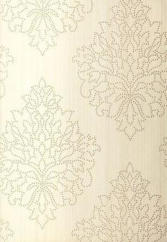 fs schumaker Beaded Damask Wallpaper in Alabaster 6261.jpg (736×1070)