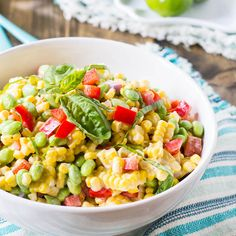 corn edamame salad. Hm I hope I get around to trying this at some point this summer.