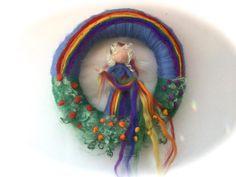Jahreszeitentisch - Kranz Regenbogen.Fee,Elfe.Filz,Waldorf. - ein Designerstück von Filz-Art bei DaWanda