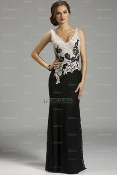 Sheath/Column V-neck Floor-length Lace Mother of the Bride Dress