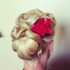 1950's style updo. The Art of Makeup and Hair.