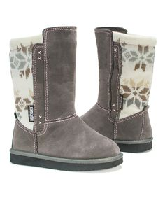 Look what I found on #zulily! Gray Stacy Boot - Kids by MUK LUKS #zulilyfinds