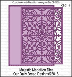 Our Daily Bread Designs Custom Dies: MAJESTIC MEDALLION