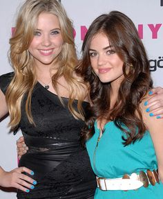 Ashley and Lucy met years before PLL began—on MySpace! Wonder if they had albums on albums of awkward digital-camera selfies and peace signs everywhere...
