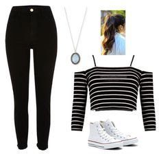 """""""Untitled #130"""" by book-rebel ❤ liked on Polyvore featuring Topshop, Boohoo, River Island, Armenta and Converse"""