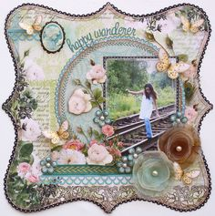 Happy Wanderer *Webster's Pages DT* - Scrapbook.com Websters Pages - Ladies and Gents Collection - 12 x 12 Designer Vellum - Ladies and Gents