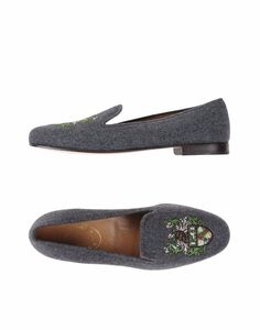 NWOB Stubbs & Wootton Gray Flannel Wool Crest Slip On Loafers US 8 #stubbswootton #LoafersMoccasins #Casual