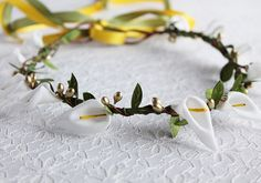 Calla Lily Crown Girls Floral Crown Bridal Halo by NoviaBellaTS