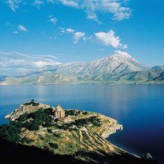 The Akdamar Island together with an Armenian church in the largest lake in Turkey Lake Van. #Travel # #Turkey #SerifYenen