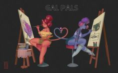 ArtStation - Gal Pals, Deni Dimochka