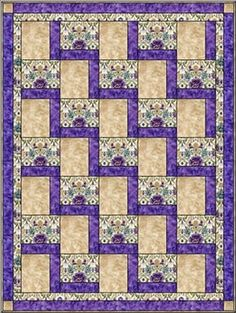 Big Block Quilt Like The Limited Number Of Fabrics And