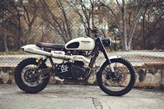 with five spanish engineers who were at a loose end after signing off the tiger 800XC prototype, triumph developed an off-road scrambler called 'tramontana'. it is an essay in mechanical engineering, with revised geometry, massively increased suspension stroke, ultra-light excel rims, new ergos and a weight loss of 40kg.