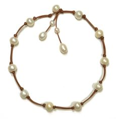 "Jillian Freshwater Necklace White Pearl Type: Freshwater Lengths Available: 18"", 20"" Additional Details: Circled Pearls, Pearl Size 10-12mm"