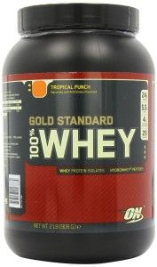 Optimum Nutrition 100% Whey Gold Standard, Tropical Punch, 2 Pound
